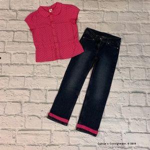 Gymboree 'Preppy Poodle' line Blouse & Jeans